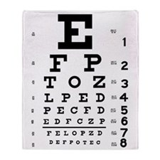 Eye chart gift Throw Blanket