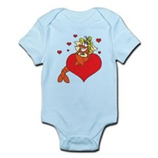 Cute Lobster Girl on Heart Onesie