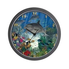 Funny Underwater Wall Clock