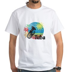 Hawaiian Tuba White T-Shirt