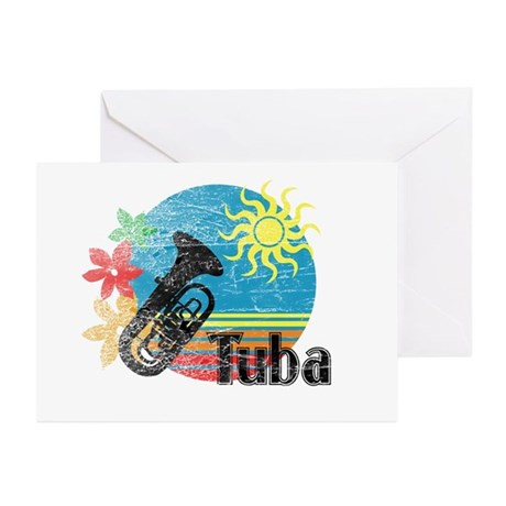 Hawaiian Tuba Greeting Cards (Pk of 10)
