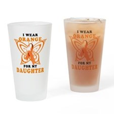 I Wear Orange for my Daughter Drinking Glass