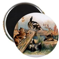 """Victorian Cats 2.25"""" Magnet (100 pack)"""