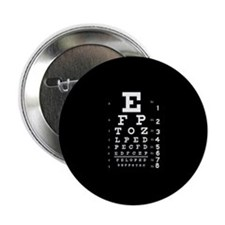 "Eye chart gift 2.25"" Button"