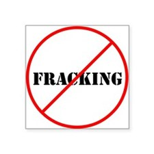 Cross out Fracking Sticker