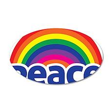 Peace Rainbow 35x21 Oval Wall Decal