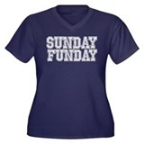 SUNDAY FUNDAY Sports Plus Size T-Shirt