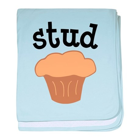 Stud Muffin Funny Valentines Day Gift baby blanket