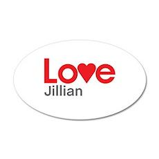 I Love Jillian Wall Decal
