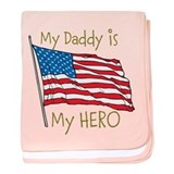 Daddy Hero baby blanket