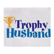 Trophy Husband Funny Valentine Throw Blanket