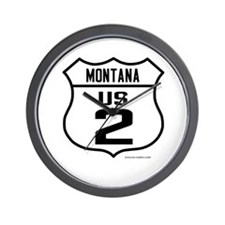 US Route 2 - Montana Wall Clock