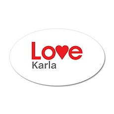I Love Karla Wall Decal