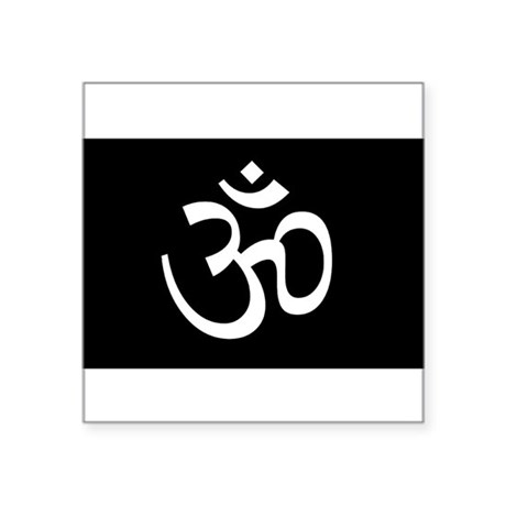 Black Om Sticker