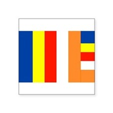 International Buddhist Flag Sticker