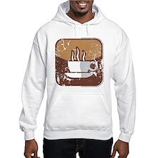 Kaffee-Symbol (used-Look) Hoodie