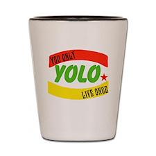 YOLO WORLD Shot Glass