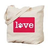 Pet love (red2) Tote Bag