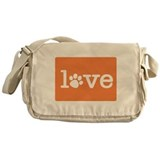 Pet love (orange) Messenger Bag