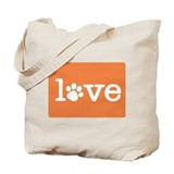 Pet love (orange) Tote Bag
