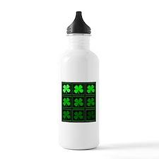 saint patricks day quad darkd Water Bottle