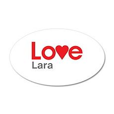 I Love Lara Wall Decal
