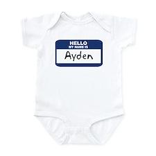 Hello: Ayden Infant Bodysuit