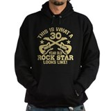 30 Year Old Rock Star Hoodie