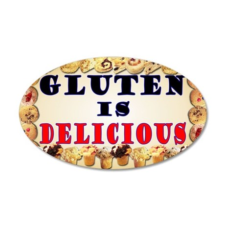 Gluten is Delicious Wall Decal