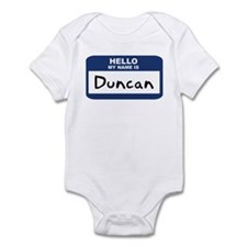 Hello: Duncan Infant Bodysuit