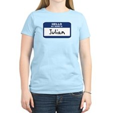 Hello: Julian Women's Pink T-Shirt