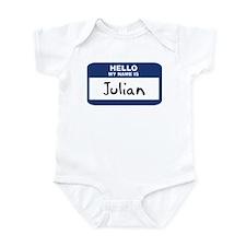 Hello: Julian Infant Bodysuit