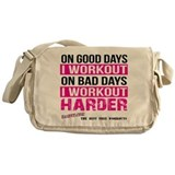 Workout Harder Gym Shirts Messenger Bag