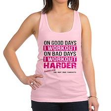 Workout Harder Gym Shirts Racerback Tank Top