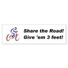 Share the Road! Bumper Car Sticker
