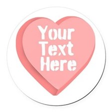 Candy Heart Round Car Magnet
