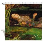 Ophelia by Millais Shower Curtain