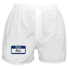 Hello: Phil Boxer Shorts