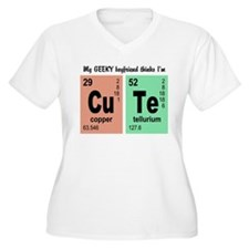 My Geeky Boyfriend Cute Elements Plus Size T-Shirt