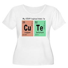 My Geeky Boyfriend Cute Elements Plus Size T-Shirt