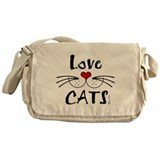 Love CATS Whiskers Messenger Bag