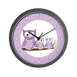 Funny Baby owls Wall Clock