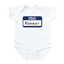 Hello: Konnor Onesie