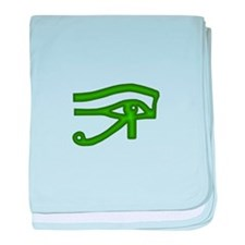Eye of Ra Green baby blanket
