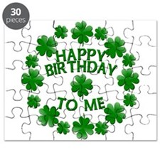 Shamrocks Happy Birthday to Me Puzzle