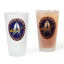 Starfleet Command Logo Drinking Glass