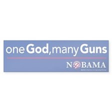 one God, many Guns, Bumper Bumper Sticker