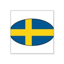 Swedish flag Oval Sticker