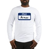 Hello: Arnav Long Sleeve T-Shirt