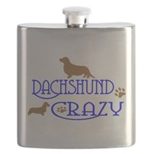 DACHSHUND CRAZY Flask